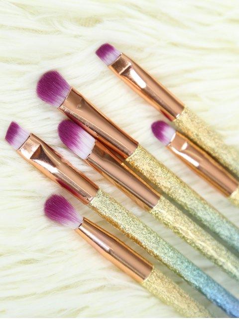 shop Glitter Eye Makeup Brushes Set - ROSE GOLD  Mobile