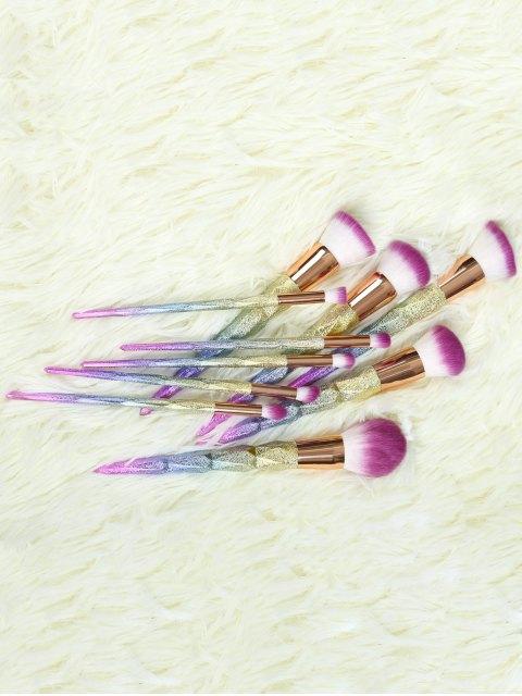 shops Glitter Makeup Brushes Set - ROSE GOLD  Mobile