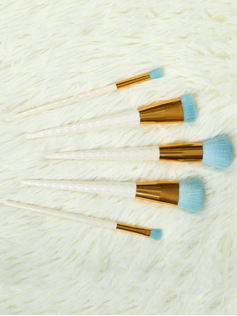 fancy 5 Pcs Makeup Brushes Set - WHITE  Mobile