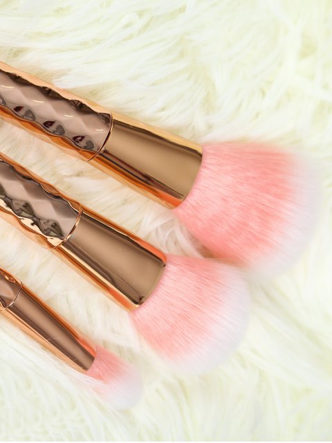 unique 5 Pcs Rhombus Makeup Brushes Set - ROSE GOLD  Mobile
