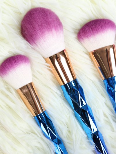 Ombre Fiber Makeup Brushes Set - BLUE  Mobile