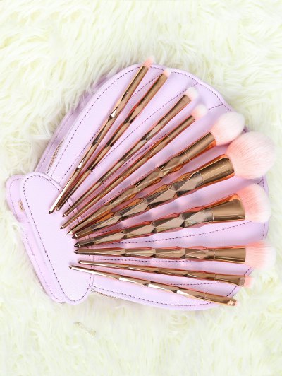 10 Pcs Rhombus Makeup Brushes Set - ROSE GOLD  Mobile