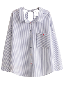String Striped Casual Shirt