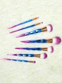Ombre Makeup Brushes Set - Blue