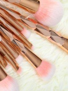 10 Pcs Rhombus Makeup Brushes Set - ROSE GOLD