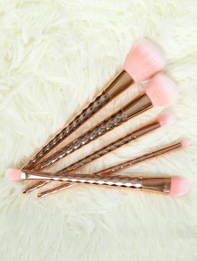 5 Pcs Rhombus Makeup Brushes Set - Rose Gold