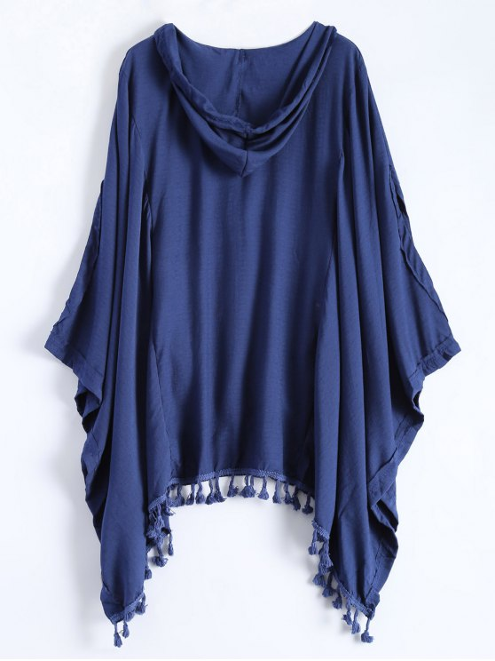 Hooded The Endless Poncho - DEEP BLUE M Mobile