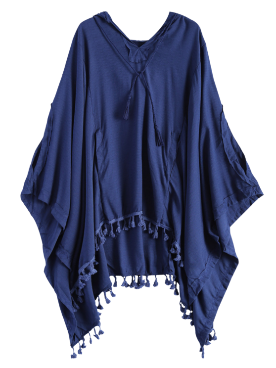 Hooded The Endless Poncho - DEEP BLUE L Mobile