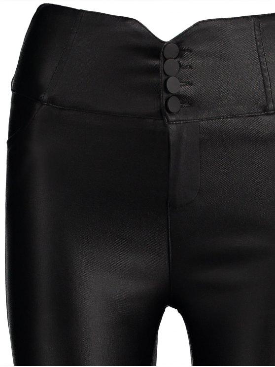 Skinny Cross Criss Pencil Pants - BLACK M Mobile