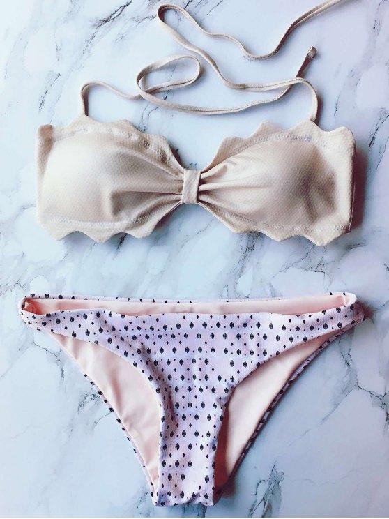 Lunares Bandeau Bikini Set - Rosa L