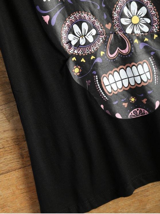 Skull Print Logo Tank Top - BLACK L Mobile