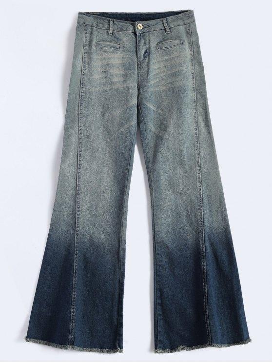 hot Bell Bottom Jeans - BLUE S