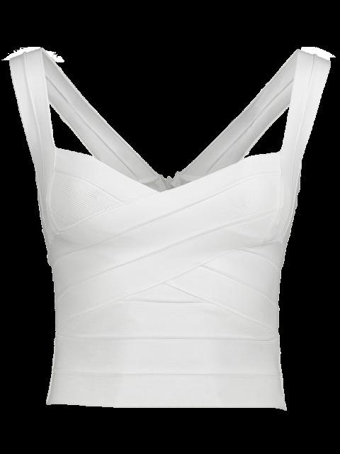 lady Back Zipper Tank Top - WHITE ONE SIZE Mobile