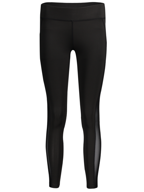 outfit Mesh Panel Active Running Leggings - WHITE AND BLACK M Mobile