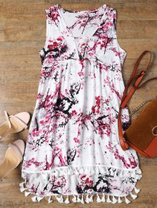 Low Cut Laciness High Low Dress