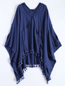 Hooded The Endless Poncho - Deep Blue