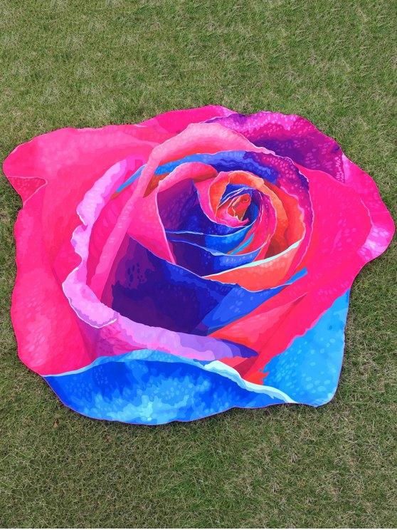 fancy Multicolor Rose Design Beach Throw - TUTTI FRUTTI ONE SIZE