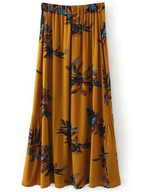 hot Boho Floral Single-Breasted Maxi Skirt - GINGER L Mobile