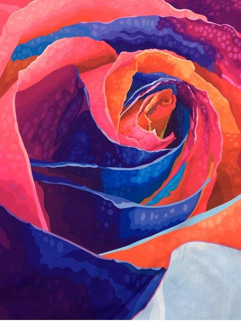 fancy Multicolor Rose Design Beach Throw - TUTTI FRUTTI ONE SIZE Mobile