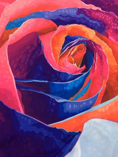 Multicolor Rose Design Beach Throw - TUTTI FRUTTI ONE SIZE Mobile