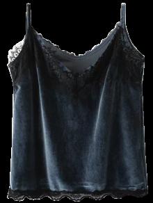 Velvet Lace Trim Cami Top
