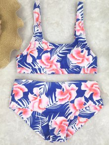 Floral High Waist Swimwear Set