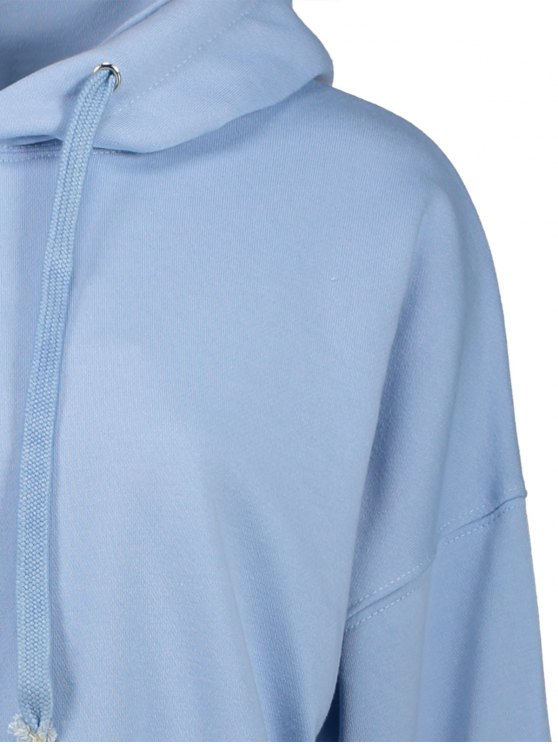 Drawstring Hoodie - LIGHT BLUE ONE SIZE Mobile