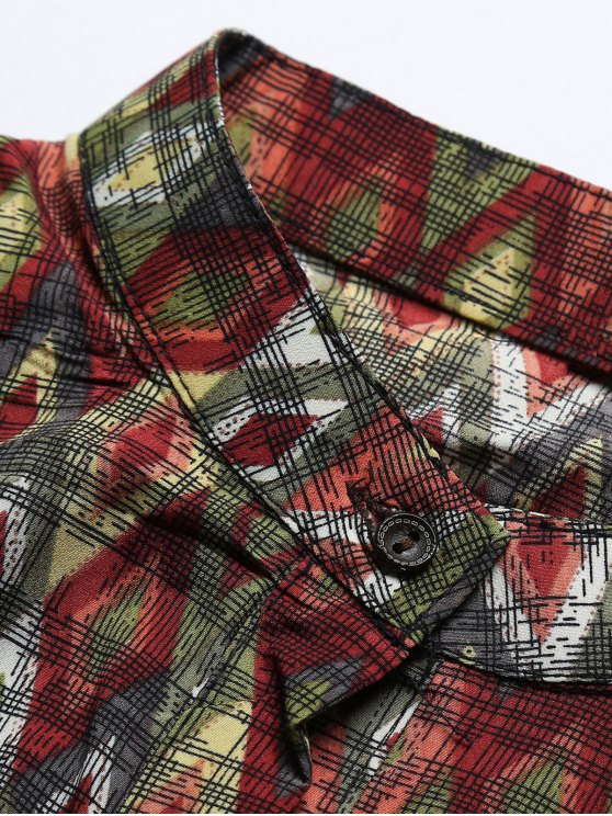 Vintage Printed Boho Chiffon Dress - COLORMIX S Mobile