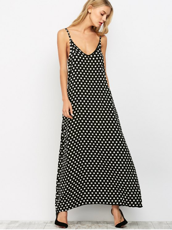 Overlayed Strappy Midi Dress - Black