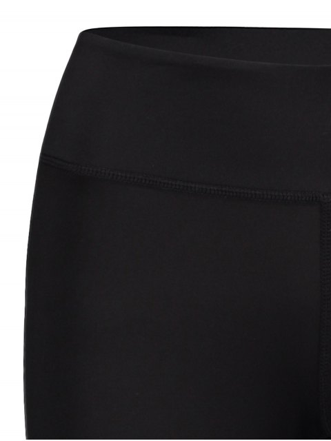 best Mesh Panel Leggings - BLACK M Mobile