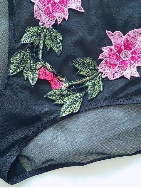 latest See-Through Floral Teddies - BLACK M Mobile