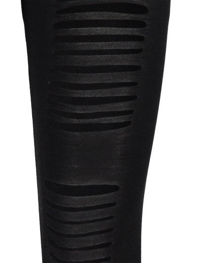 Hipster Slimming Leggings - BLACK ONE SIZE Mobile