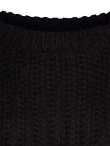 Bell Sleeve Chunky Sweater - BLACK ONE SIZE