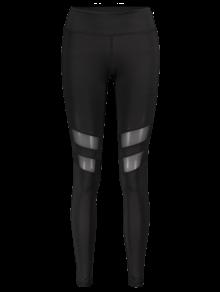 Mesh Panel Leggings BLACK: Active Bottoms | ZAFUL