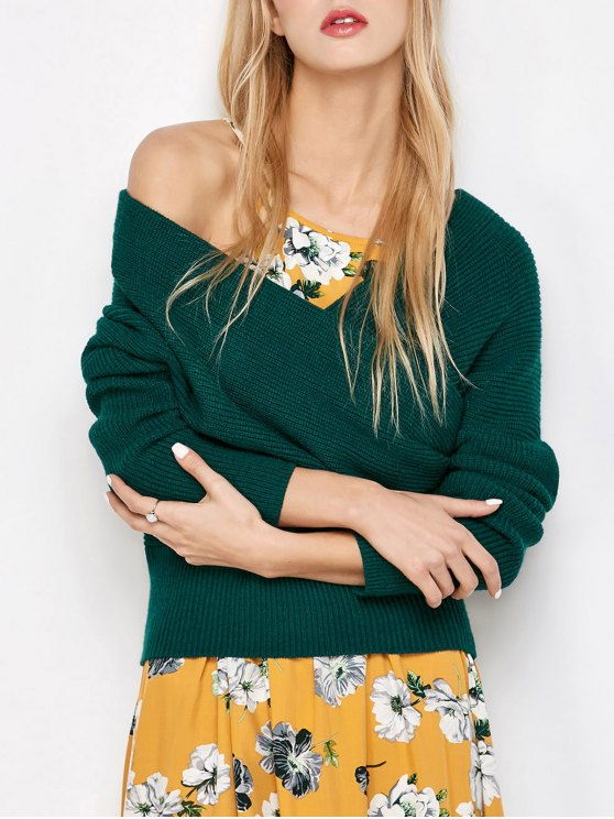 Crossover Off The Sweater épaule - Vert Foncé TAILLE MOYENNE