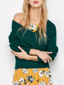 Crossover Off The Shoulder Sweater