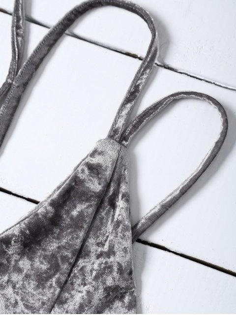 fashion Pleuche Camisole - GRAY M Mobile