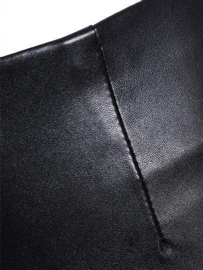 Pencil PU Pants - BLACK 3XL Mobile