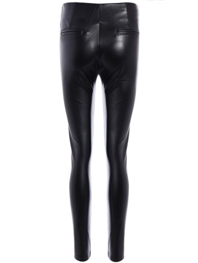 Pencil PU Pants - BLACK 2XL Mobile