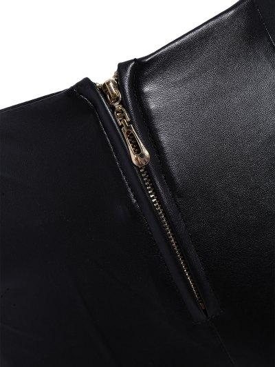 Pencil PU Pants - BLACK XL Mobile