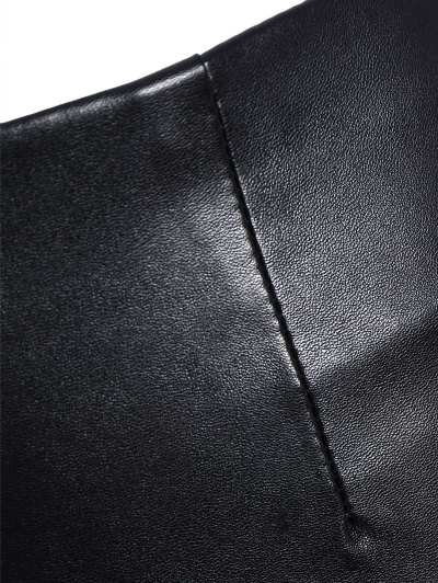 Pencil PU Pants - BLACK L Mobile