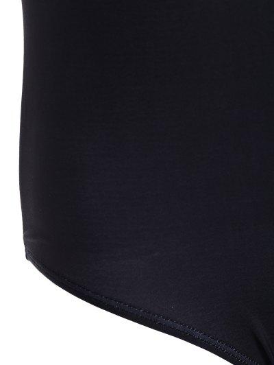 Padded Scoop Neck Bondi Swimwear - BLACK L Mobile