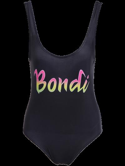 Padded Scoop Neck Bondi Swimwear - BLACK M Mobile