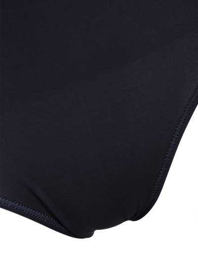 Padded Scoop Neck Bondi Swimwear - BLACK S Mobile