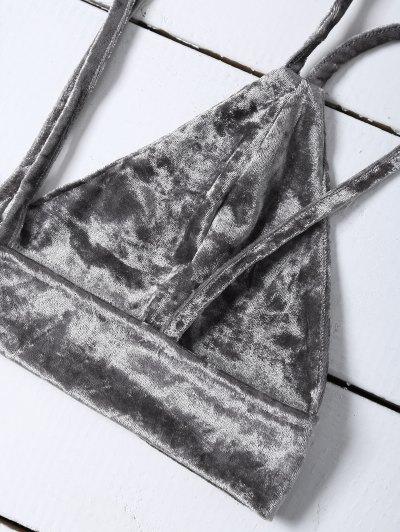 Pleuche Camisole - GRAY XL Mobile