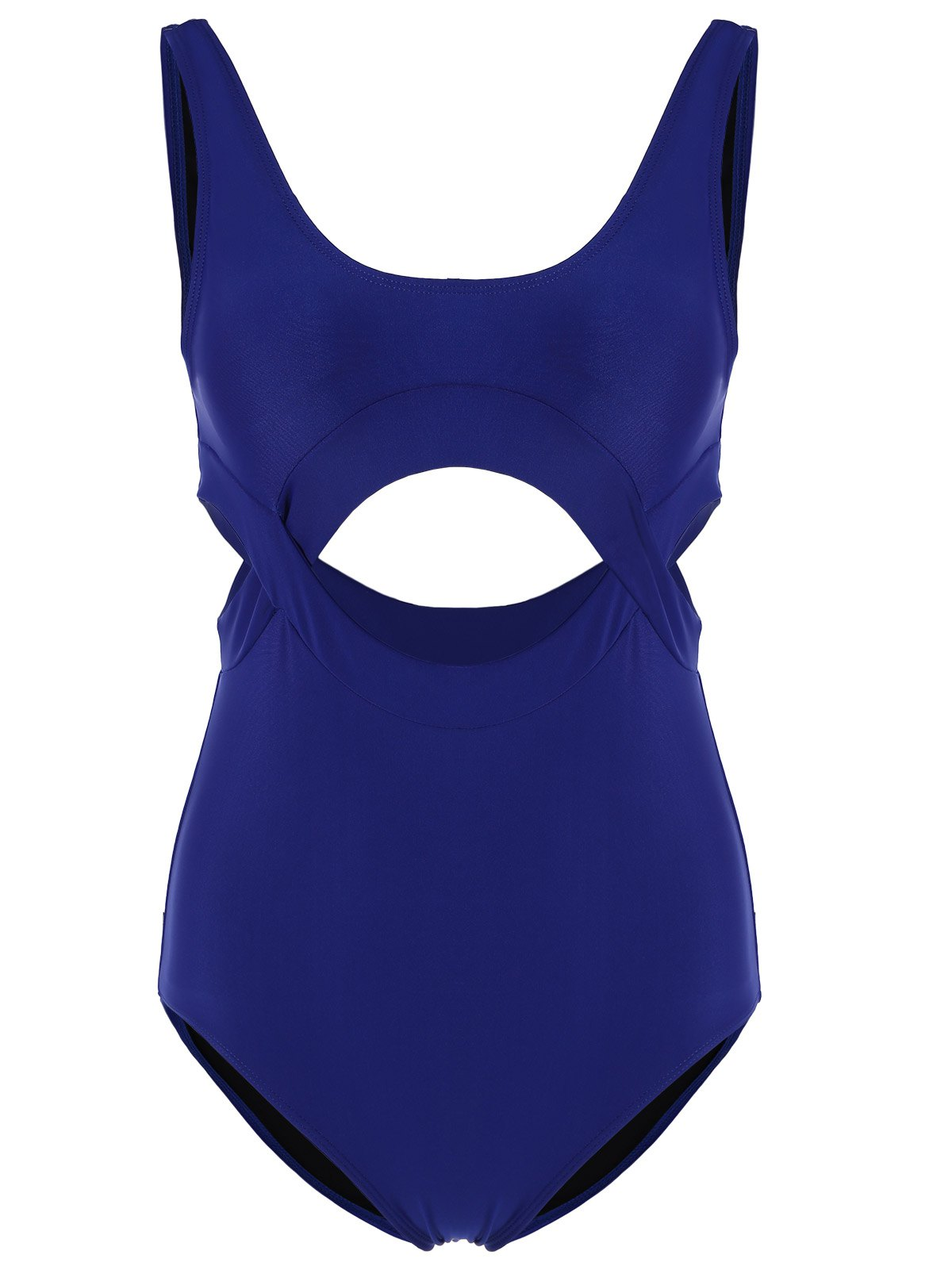 Scoop Neck High Cut One-Piece Swimwear
