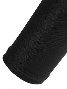 Candy Color Elastic Leggings - BLACK S