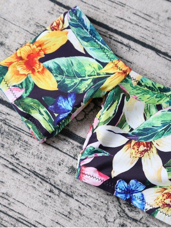 Floral Off The Shoulder Bikini - FLORAL S Mobile