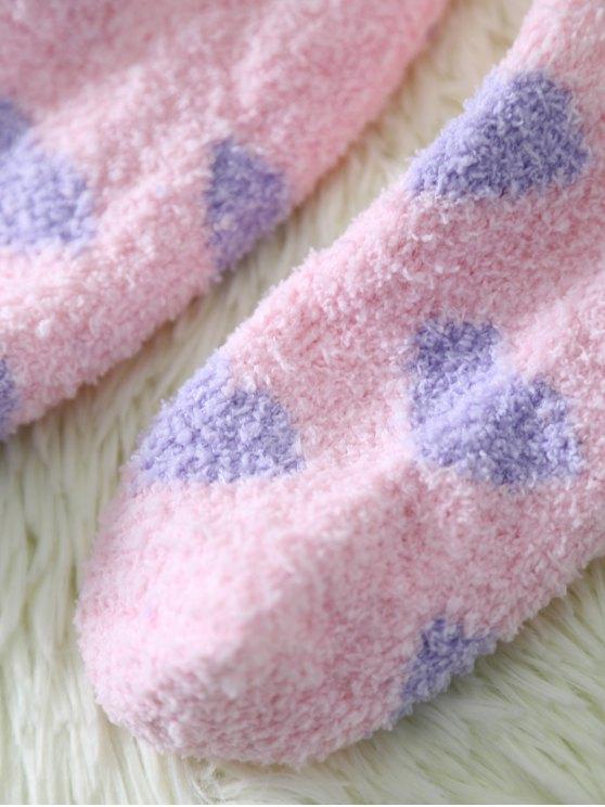 Cartoon Pink Bunny Coral Fleece Socks - PINK  Mobile