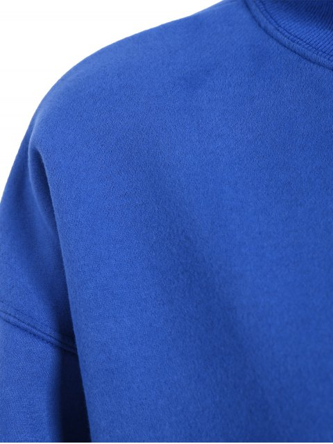 shops Lettering Fleece Sweatshirt - BLUE ONE SIZE Mobile
